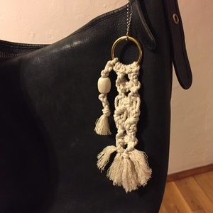 Macrame Bag Accent, Handmade Organic Cotton